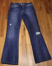 Joes Jeans Bootcut Stretch Flap Pocket Distressed Womens Size 25 x 28 Dark Wash