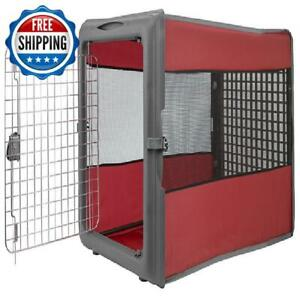 "Large Dog Crate Kennel Pet 36"" L Open Pop Portable Travel Kennel Durable Design"