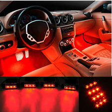 4x3 LED ROUGE FLASH INTERIEUR TUNING 2016 • ALLUME CIGARE 12V • DIRECT DE FRANCE
