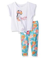 French Toast Girls Toddler Short Sleeve Tie Front Tee & Capri Legging Set 2T