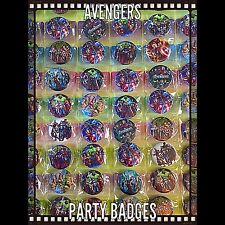 Avengers Party Bag Fillers. Set Of 10. Birthday Party Badges. Great Bag Fillers