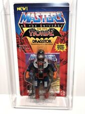 AFA 85 He-Man 1986 MOTU Mattel New Dragstor Series 5 (80 85-90) Clear NM+