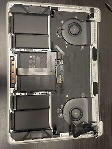 OEM MacBook Pro A1989 18/19 Keyboard Top Case Key with Battery Silver Read!