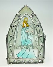 Angel Church Cathedral Stained Glass Candle Holder Trinket Box Christmas Holiday