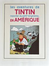 """TINTIN . SERIGRAPHIE - Couverture """"TINTIN en Amérique"""""""