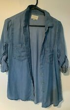 Cotton on Denim Like Collared Button Up Shirt - Size S