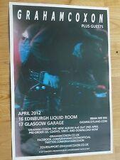 Graham Coxon (Blur) Glasgow 2012 tour concert gig poster