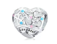 Authentic Sterling Silver Charm The gift of love heart Charm Bead