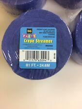 Dark Blue Streamer 81ft crepe streamer party garland Lot Of 4