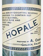 Vintage Pre-Pro A. Coors Hopale Near Beer Bottle W/ Paper Label Coors Golden Co