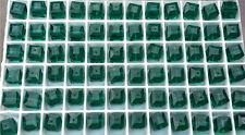 12 SWAROVSKI CRYSTAL - EMERALD  6mm Loose BEADS 5601 CUBES, Bridal/Wedding