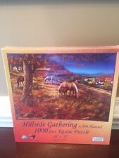 Jigsaw Puzzle 1000 piece Hillside Gathering by Jim Hansel 20x27  NEW in package