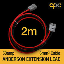 2m 50A AMP ANDERSON PLUG style Extension cable Battery 4x4 4WD CARAVAN SOLAR 12V