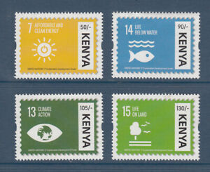 2017 Kenya UN Sustainable Development Goals Environment complete set of 4 MNH
