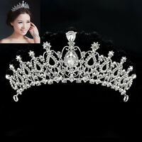 Fashion Bridal Wedding Crystal Rhinestone Hair Headband Crown Comb Tiara Prom FT