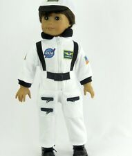 White Nasa Astronaut Costume for 18 inch American Girl Boy Doll Clothes Luciana
