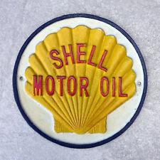 Shell Garage Sign Cast Iron Repro 1930s Plaque 21cm  Famous Motor Oil Logo