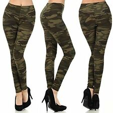 US Women's Sexy Skinny Leggings Casual Slim Stretchy Jeggings Pants Camouflage
