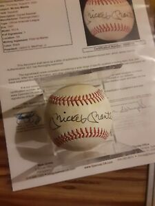 MICKEY MANTLE SIGNED AUTOGRAPHED VINTAGE YANKEES OFFICIAL BASEBALL JSA AUTO HOF