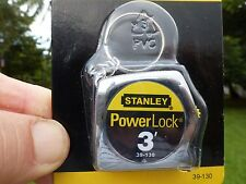 Stanley Power Lock Tape Ruler  3 Ft. Key Chain Sealed In Carton