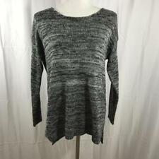 f82a42c210 Millau LF Stores Grey and White Knit Cozy Acrylic Scoop Neck Sweater Sz S