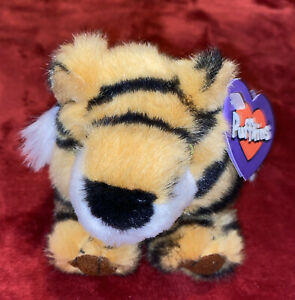 "Vintage 1997 Puffkins Tiger Tipper Plush 4"" With Tags"