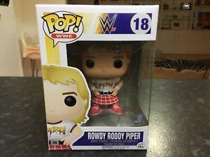 FUNKO POP! VINYL - WWE #18 ROWDY RODDY PIPER - MINT RARE VAULTED