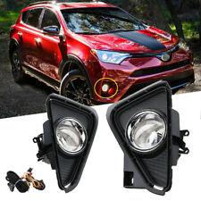 For 2016-2018 Toyota Rav4 Clear Bumper Fog Lights Driving Lamps w/Bulbs&Wiring