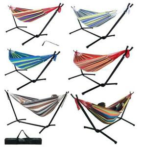 Hammock with Stand for Double 2 person with Carrying case Outdoor Yard Patio Use