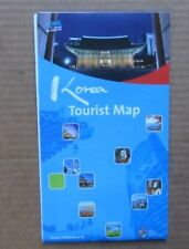 South Korea Tourist Map foldable Country and City