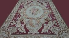 Magnificent Antoinette Handmade Cross-Stitched Wool Needle Point rug 6x9