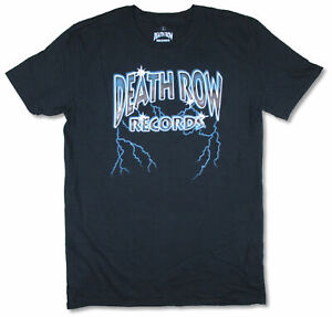 Death Row Records Lightning Mens Black T Shirt New Official