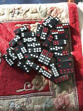 Dominoes Black Set Of 32 Black And Red With Chinese Wood Box