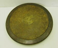 Antique Metal Brass & Wood Discus Engraved Tom Lill 4lb 7 oz