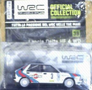Lancia Delta HF 4 WD Saby-Fauchille Montecarlo 88 RALLY WRC 1:24 V 39 HACHETTE