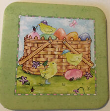 Longaberger Easter Coasters With Basket, Eggs And � Chicks