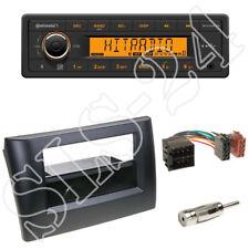 TR7412UB-OR Radio + Fiat Stilo (192) 2-DIN Blende schwarz mit Fach + ISO-Adapter