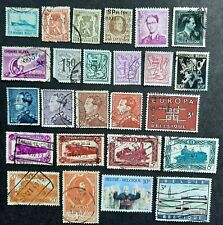 Lot of 50 used stamps of Belgium partial sets and more