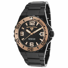 Reloj de Cuarzo Swiss Legend 10008-BB-11-RA Negro Acero Inoxidable Pulsera para hombres