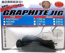 LUCKY CRAFT JAPAN GRAPHITE JIG FOOTBALL 1/32 - 06900266 Black