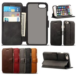 Case For iPhone 6 7 8 Plus Leather Magnetic Flip Wallet Stand Up Phone Cover