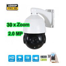 4.5'' 30X Zoom 1080P 2MP Outdoor HD PTZ IP Speed Dome Camera IR Night CMOS CAM