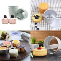 3Pcs Round Mini Cake Pan Removable Pudding Bottom Mold DIY Baking Cake Tools