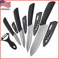 "Blade Sharp Ceramic knife Set Kitchen Knives 3"" 4"" 5"" 6"" + Peeler Knife Cutlery"