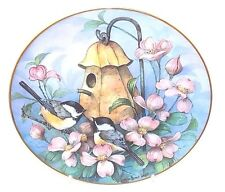 "Royal Doulton Fine China Collectible Plate ""Chickadees' Castle"" Shores Wright"