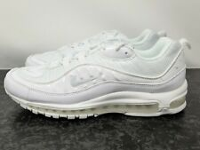 Nike Men's Air Max 98 Blanco/Pure Platinum-Negro Talla 11.5 640744-106