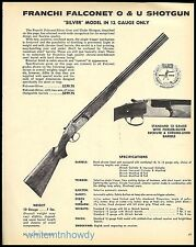 1973 FRANCHI Falconet Silver 12 gauge Over & Under Shotgun AD