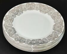 Waterford China ~ Lismore Lace Platinum ~ Set Of Six 20cm Side Plates ~ New 1st