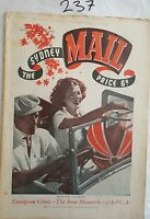 SYDNEY MAIL 1936 MARCH 18,MONA BARRIE FASHION.QUEENSLAND,CRICKET,RACING,BERLIN