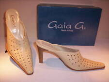 shoes sabot Gay woman heels leather beige 37